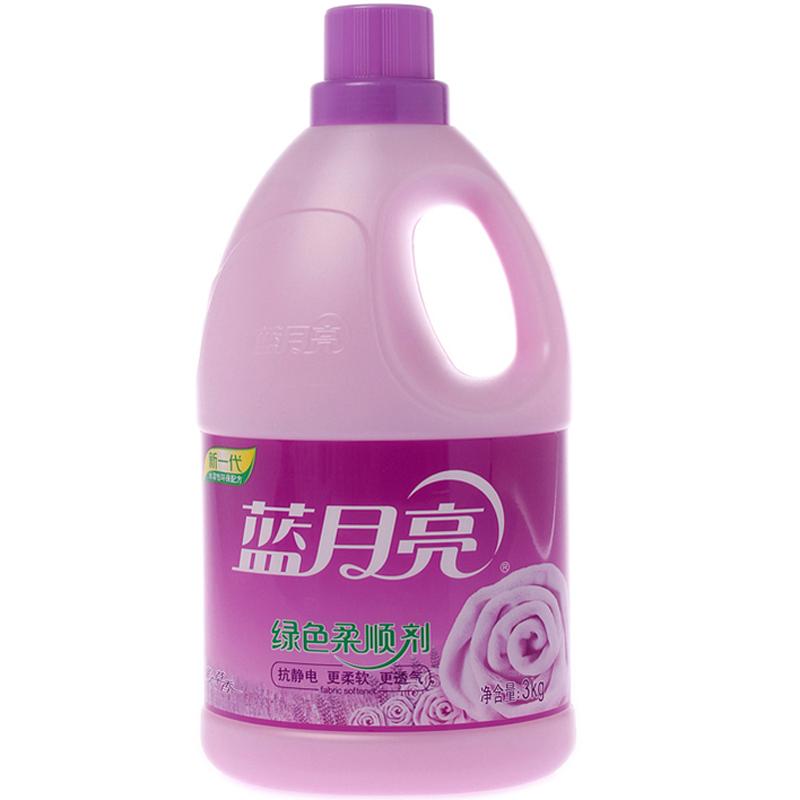 藍月亮柔順劑 薰衣草香 綠色柔軟劑3kg 瓶裝衣物護理