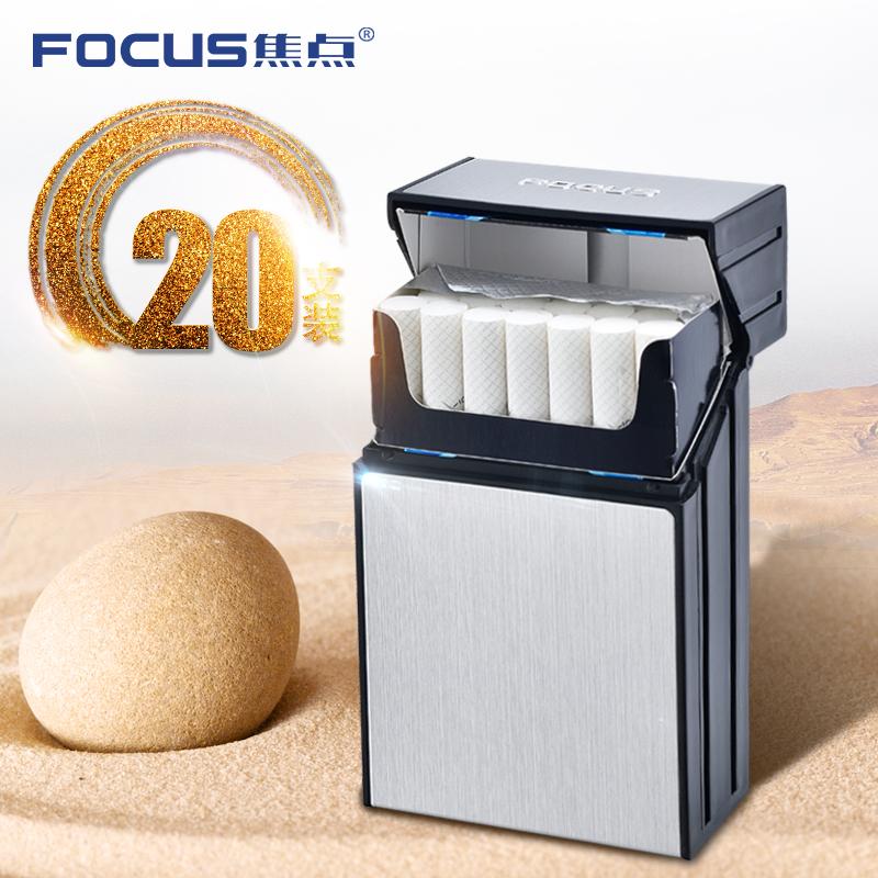 焦�c��意��性��盒20支�b超薄便�y翻�w塑料��s香菸盒防�耗惺�
