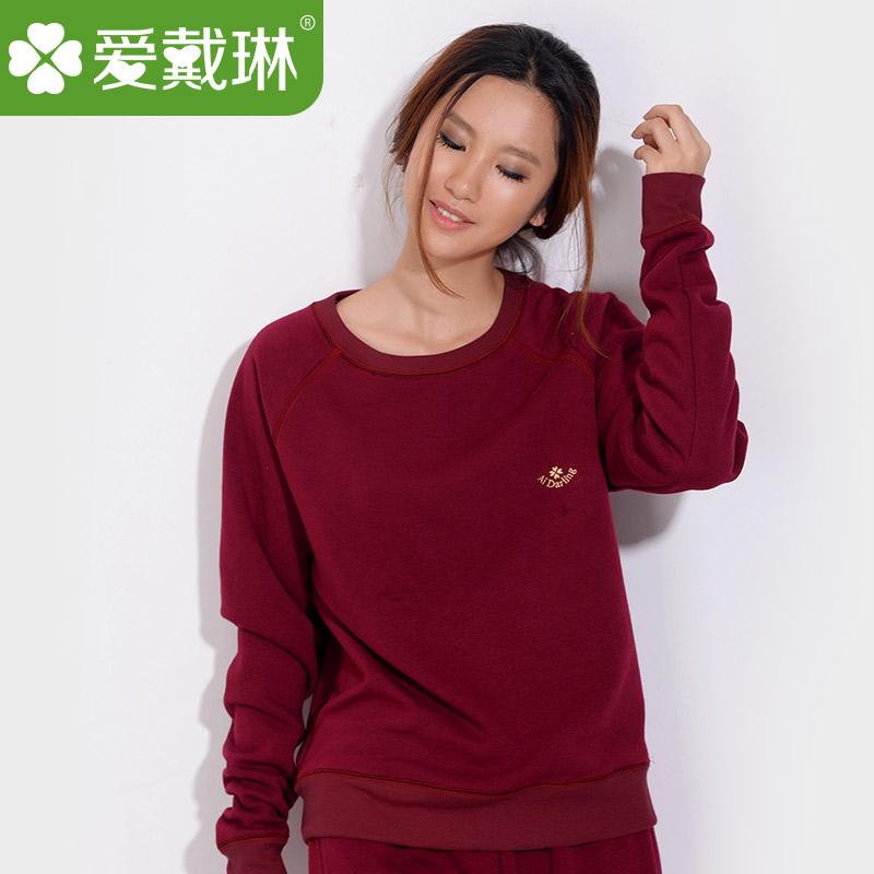 Любви Линда утолщенные хлопок тепловой белье и флис мода пальто осенью одежду носить, пижамы, пижамы и отдыха