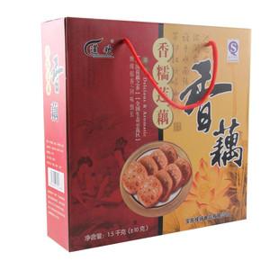 领3元券购买宝应糯米藕 桂花莲藕 扬州特产真空素熟食甜糖藕1500g 礼盒装