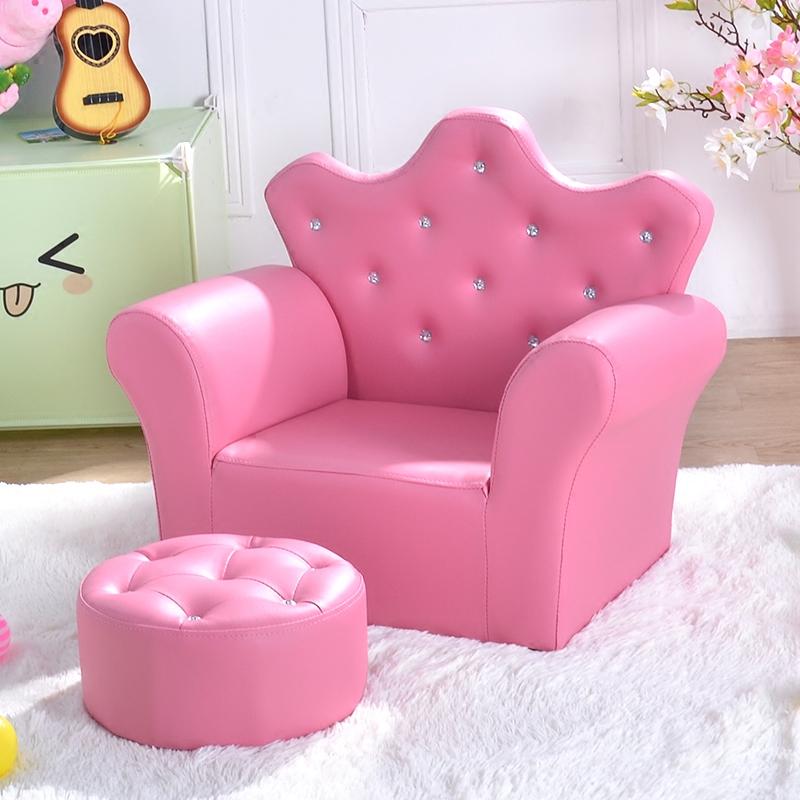 儿童沙发 可爱皇冠婴幼儿小沙发环保皮带凳迷你公主宝宝沙发特价