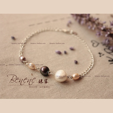 0665 original natural pearl bracelet benenc female 925 sterling silver oval hand first act the role ofing is tasted series package mail