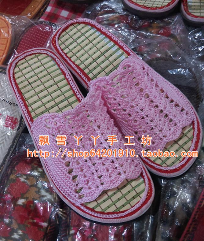 Исключительно вручную крюк компилировать витать счастливый бамбук сандалии материалы сильный пригодный для носки лето шлепанцы пакет не готовой продукции существует курс