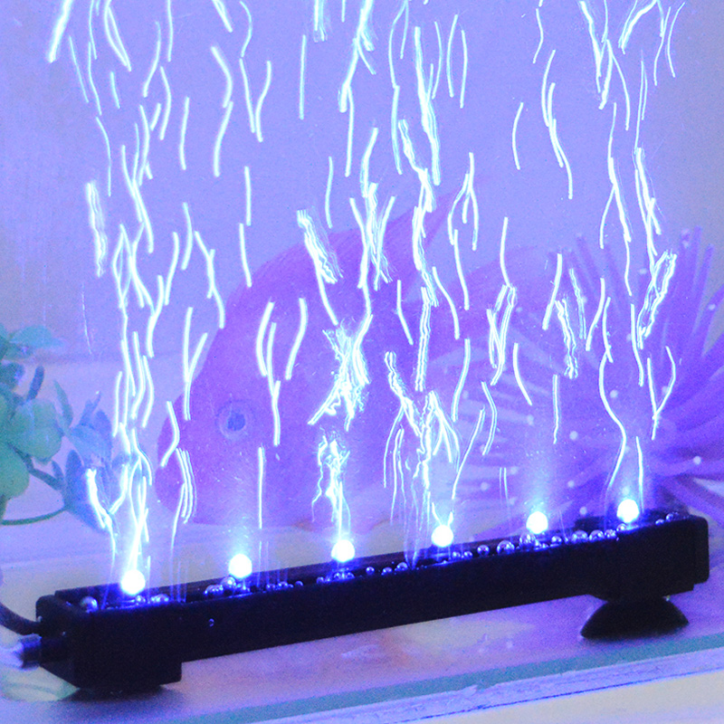 Аквариум свет led свет водонепроницаемый освещение свет семицветные пузырь свет вода гонка коробка дайвинг декоративный лампа лампы статья