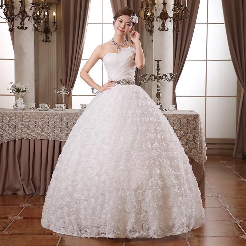 Свадебные платья трейлинг 2015 новый корейской моды линии невесты свадьба полоса трубки Топ slim летом летом платье