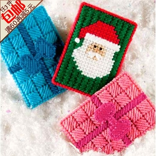 3D three dimensional embroidery stitch printing newest stylish living room bow Santa Claus card Taoka bit cards bags
