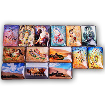 Dunhuang Craft Gifts Tourist souvenirs crystal Square glass Magnetic refrigerator sticker 5 random shipments