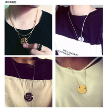 In Paris, France momebijou popular logo right to KISS ME IF YOU CAN volunteer dragon GD titanium steel pendant necklace