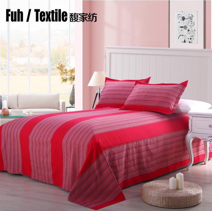 馥家纺 老粗布床单单件单人双人学生床单1.51.8米粗布全棉可定制