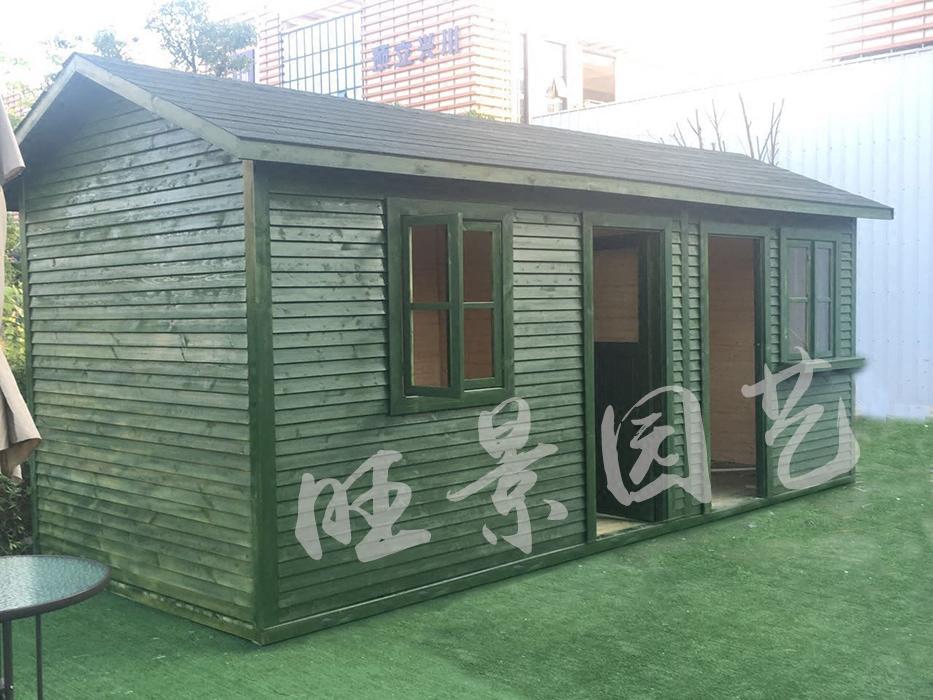 Customized outdoor carbonized Pinus sylvestris var. mongolica wood house garden equipment room tool room childrens room pet house