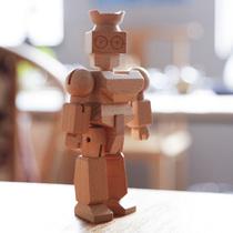 胖瘦机器人创意木质玩偶儿童礼物礼品爱稀奇班门乐府Bamloff