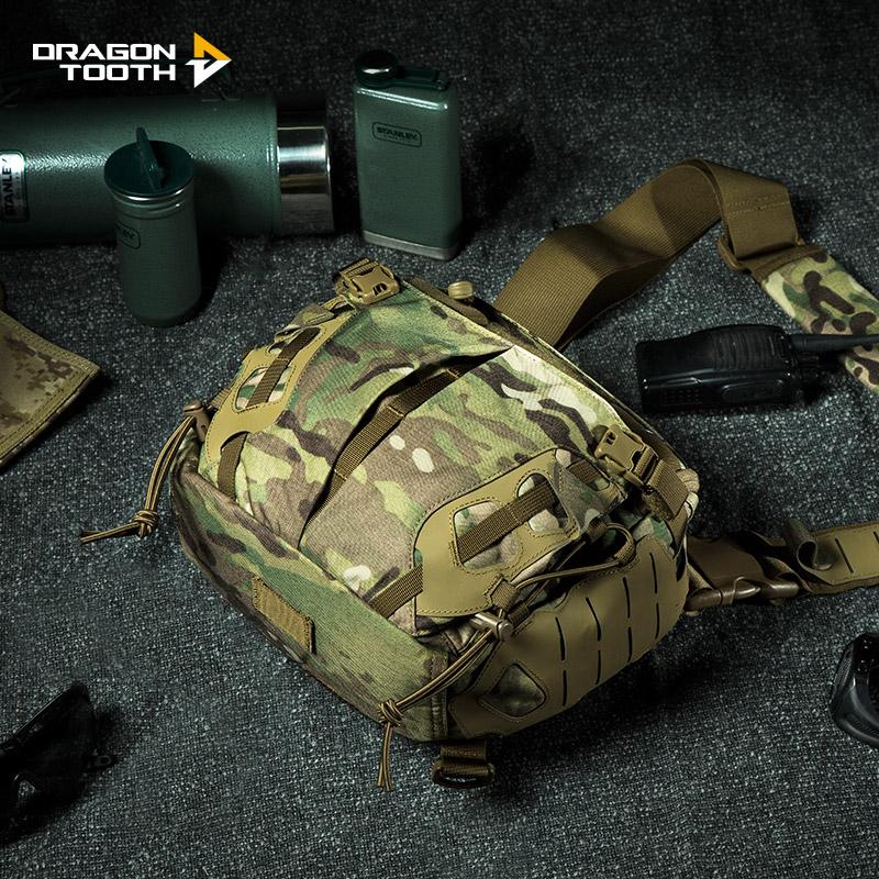 Дракон зуб новый тактический армия фанатов сумка на открытом воздухе камуфляж случайный через посещаемость плечо диагональ рюкзак сумочку железо кровь
