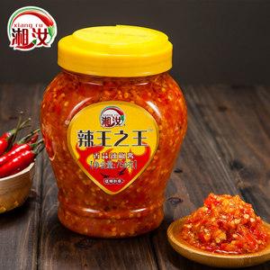 湘汝辣王之王塑料瓶装750G蒜蓉辣椒酱 剁椒片蒸菜大辣蒜香鲜辣酱