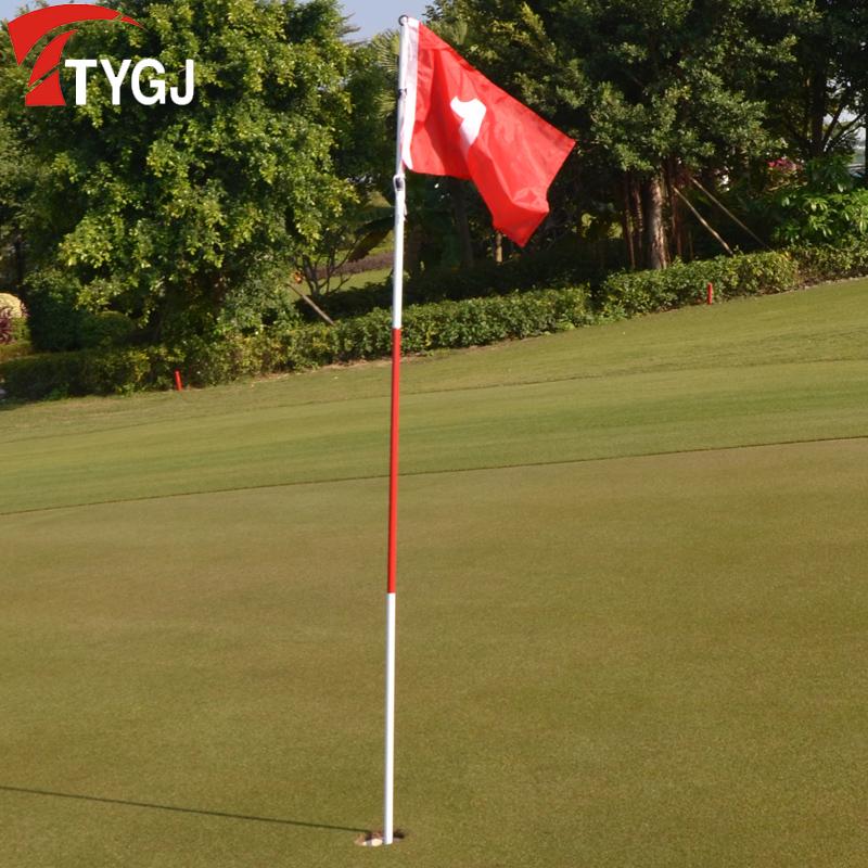 Гольф зелень флаг знак зелень флагшток флаг сын сталь тело гольф зелень пещера чашка