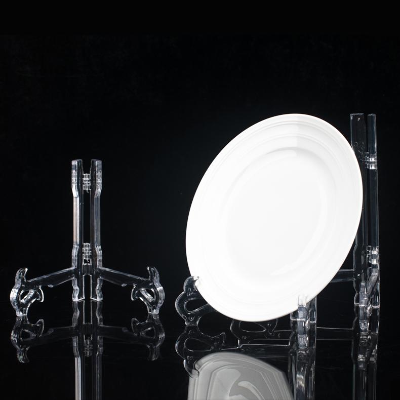 水晶亚克力架子 盘子支架展示架普洱茶饼支架 相框平板电脑展示架