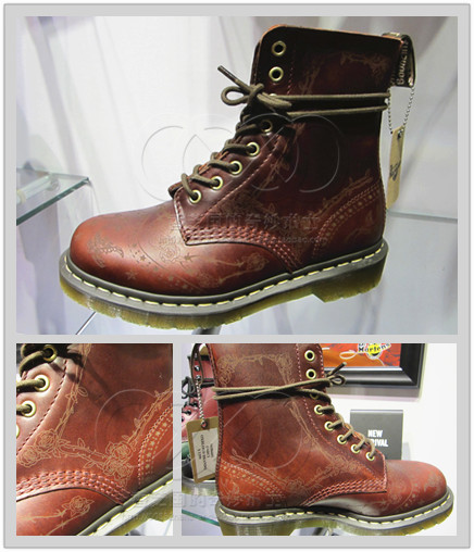Drmartens Hong Kong Purchasing Darci Scorpion Tattoo Etched Rose 8 Hole Martin Boots 16186601