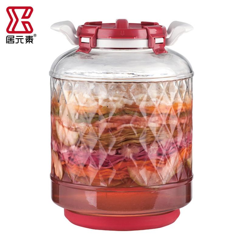 居元素玻璃瓶密封罐泡酒罐子家用泡菜腌制罐腌菜坛子酵素罐帕特