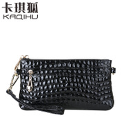2015 fall/winter purse women Kanesuke kaqi Fox mini wrist leather clutch bag is convenient and practical small packages