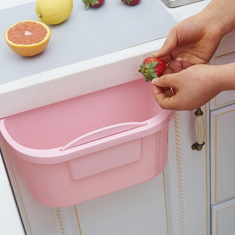 飞达三和厨房台面垃圾篮塑料桌面收纳盒垃圾桶橱柜门挂式家用大号