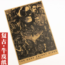Batman's old movie posters Nostalgic kraft paper adornment picture Bar dormitories hang a picture