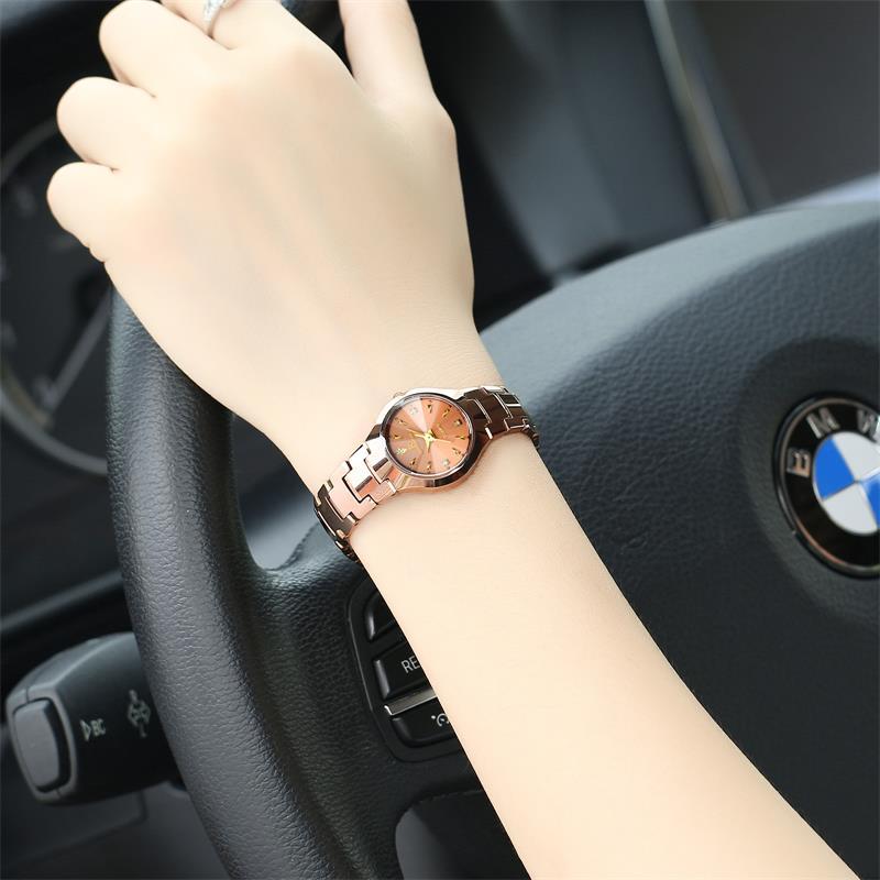 正品瑞之緣女表鎢鋼帶手表 防水商務女士手表 腕表 石英表 手表女