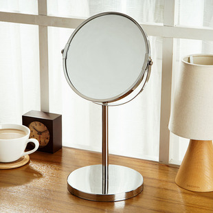 Europe Yun Chul desktop double sided rotating mirror princess vanity mirror metal mirror cute beauty bathroom mirror