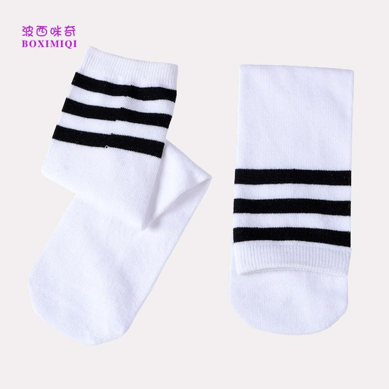 条纹直筒袜儿童演出服配饰袜男女童直板直筒袜