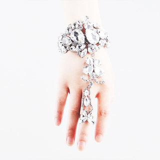 Good beauty bridal bracelet ring set wedding jewelry wedding accessories hand bracelet hand chain Bangle