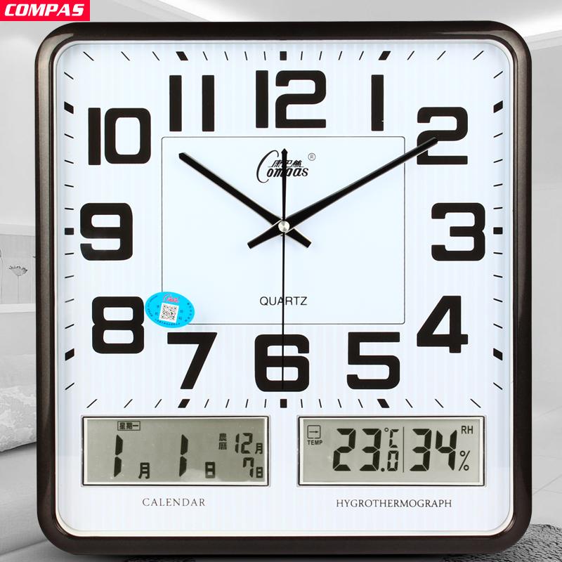 Мир пакистан провод немой гостиная большой колокол квадрат жидкость заметный календарь кварц колокол творческий часы мода часы простой колокол