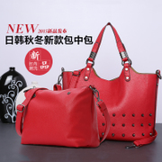 ZYA women's handbag big bun for 2015 new tide fashion rivet bag casual tote bag