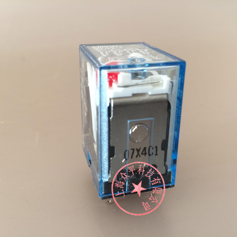 [工博士]欧姆龙OMRON中间继电器MY4N-J DC24V 14脚带指示灯