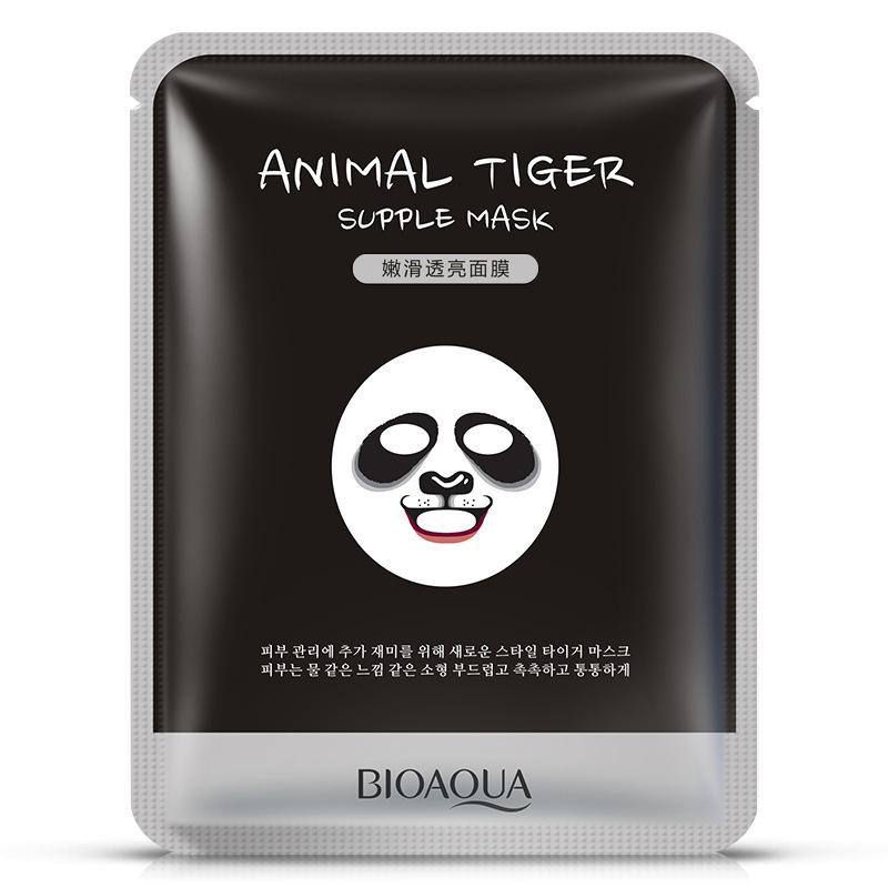 送一10泊泉雅动物面膜熊猫面膜贴补水保湿控油舒缓肌肤收缩毛孔满