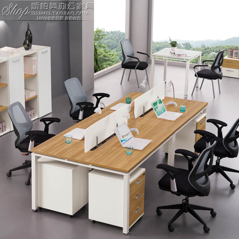 Office furniture, office table, steel frame table, 246 person staff combination screen, card seat, simple wood-based panel computer desk and chair