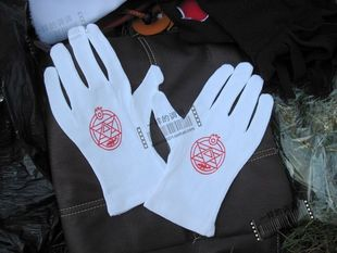 Cosplay steelmaking cos suit Edward White Gloves pure cotton spot