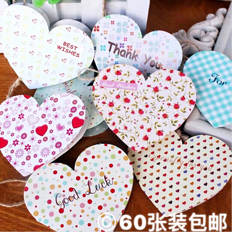 Корея творческий любовь в форме небольшой карта небольшой свежий цветочный день рождения поздравительные открытки мать фестиваль карта желание оставить сообщение карта