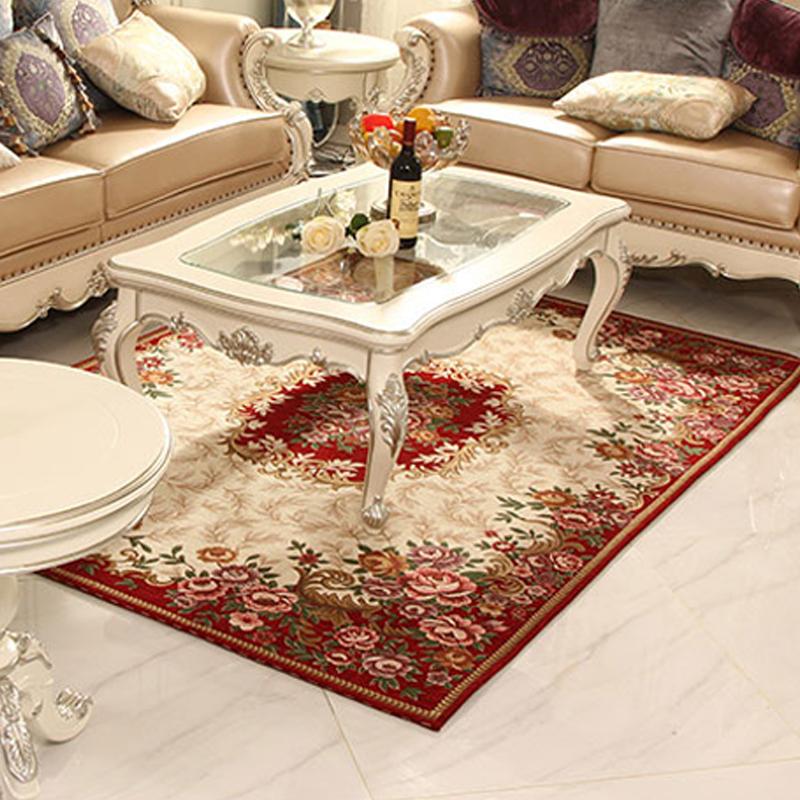 年底清理库存欧式风格布艺客厅茶几沙发地毯卧室床前床边可机洗毯,可领取5元天猫优惠券
