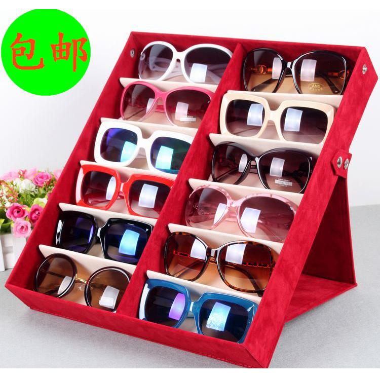 Почта премиум хранения коробки 12 оленей бархат очки очки дисплей коробки большие солнцезащитные очки оптом