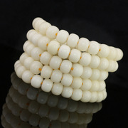 Natural white 108 bodhi months Apple round pearl bracelet wenwan accessory pigment accessories Bai Puti Zi