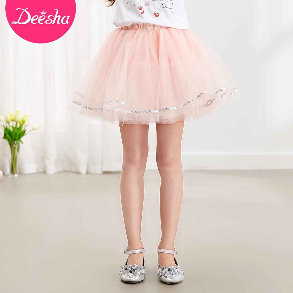 Флейта крахмал саго ребятишки девочки 2017 новый летний юбка в больших детей украшения юбка