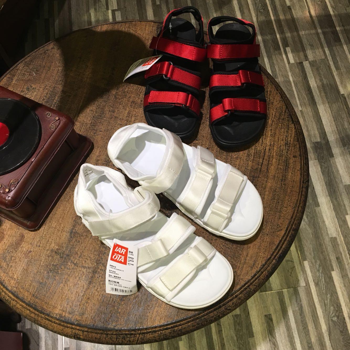 新款情侣鞋越南女厚底男女凉鞋罗马布带学生沙滩鞋防滑大码女鞋