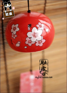 Belly home Japanese ceramic wind chimes Japanese cherry blossoms spring seasons flowers Campanula