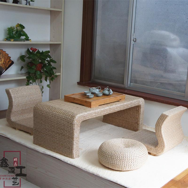 Сельская местность охрана окружающей среды ротанг солома кофейный столик эркер стол японский татами кофейный столик чайный стол таблица земля тайвань столы и стулья сочетание