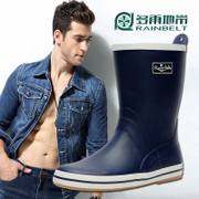 RAINBELT tube skin texture in the Korean version of men's boots men's boots fishing water shoes optional warm winter package mail