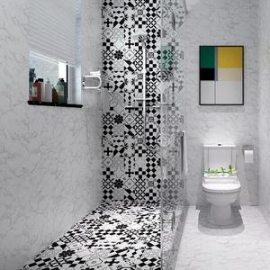 卫生间防水地贴墙贴浴室厕所瓷砖地板砖自粘墙纸贴纸耐磨防滑防潮