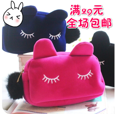 Large capacity lovely portable cosmetic bag