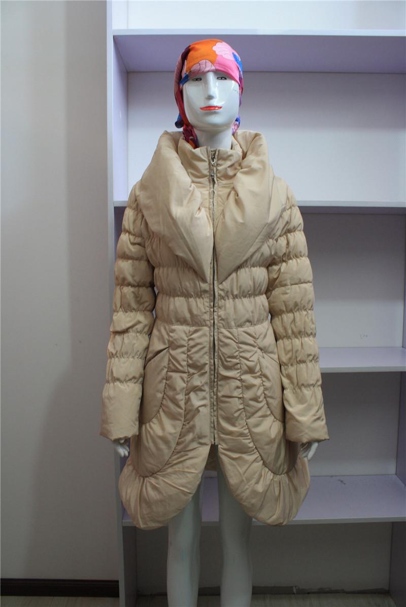 2015冬装新款羽绒服 韩版潮高含绒量上衣 丝蒂雅*中长款外套