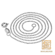 Old silversmith jewelry genuine 925 Silver necklace women clavicle simple Korean fashion cute bead chain necklace