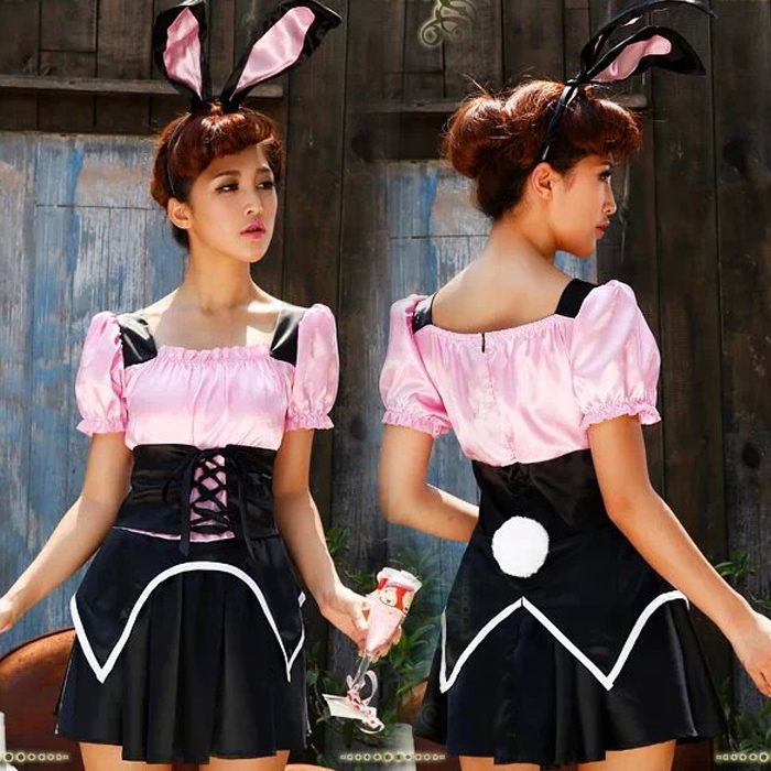 Halloween Costume Witch Dress cat girl role play cat girl dress rabbit Girl Uniform Party DS Costume