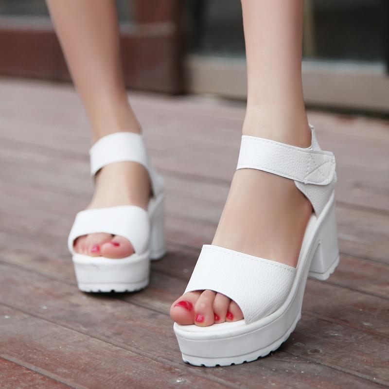 Пакет почтовый 2015 сырой нефти с высокой пятки платформы сандалии новой женщиной контракт на толстой подошве платформы обувь и обувь для отдыха
