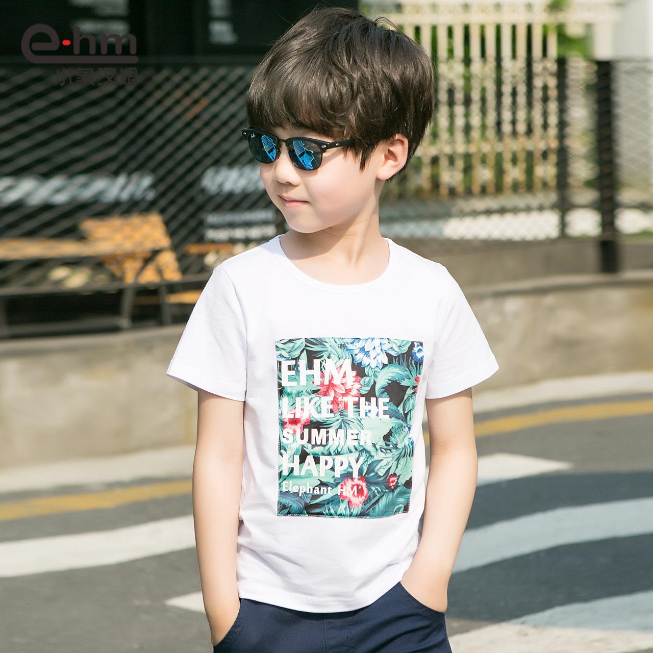 小象漢姆男童兒童寶寶t恤